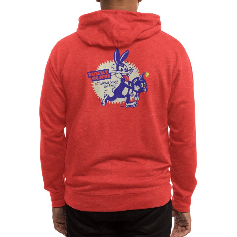 Tricky Saves the Day Men's Zip-Up Hoody by Threadless Artist Shop
