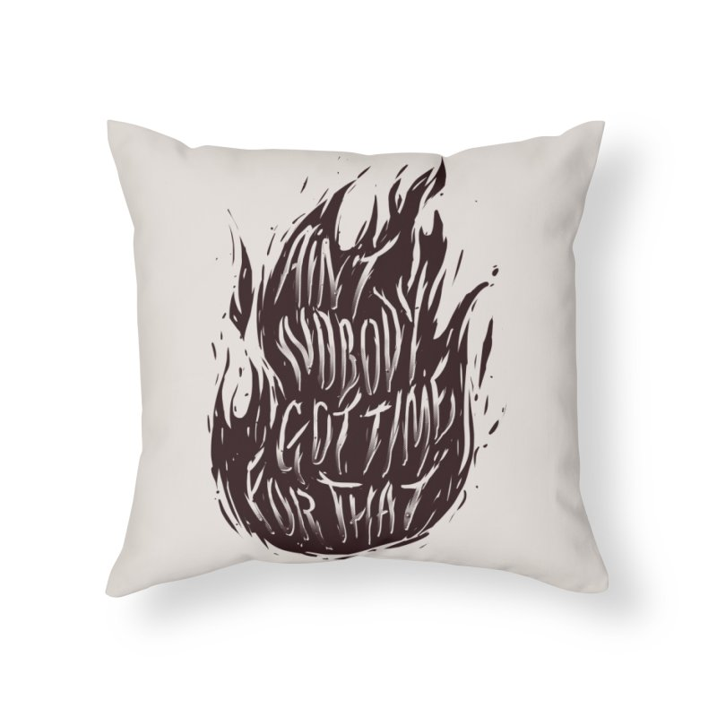 Oh Lord Jesus Home Throw Pillow by Threadless Artist Shop
