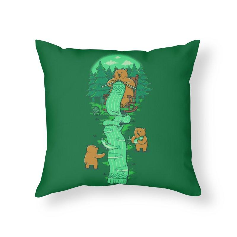Knitting Home Throw Pillow by Threadless Artist Shop