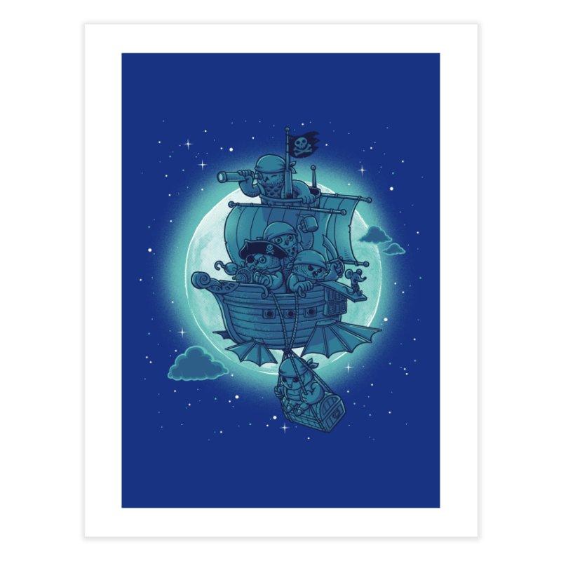 Pirate Owls Home Fine Art Print by Threadless Artist Shop