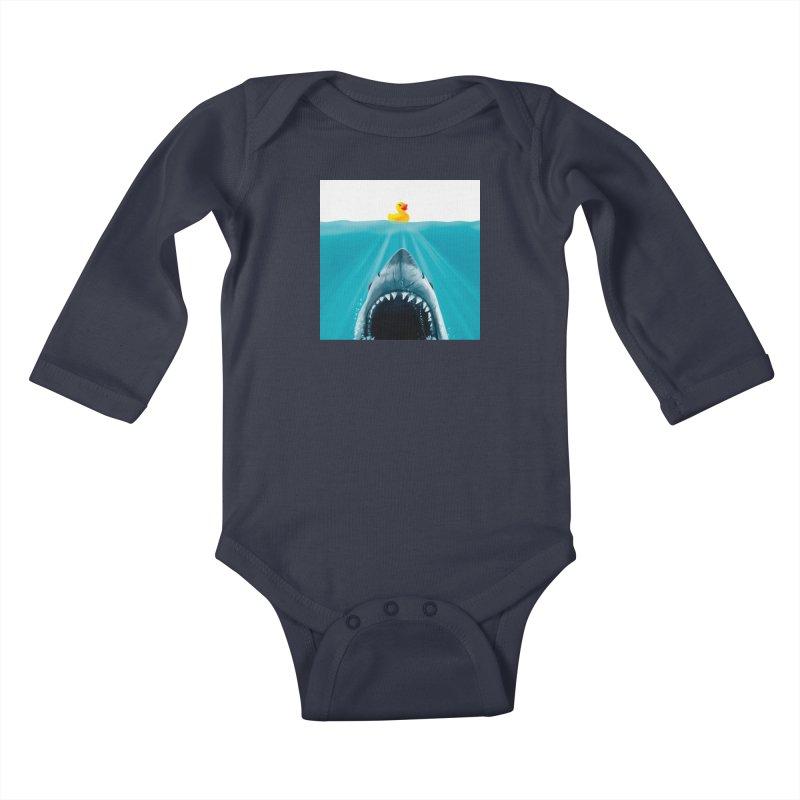 Save Ducky Kids Baby Longsleeve Bodysuit by Threadless Artist Shop