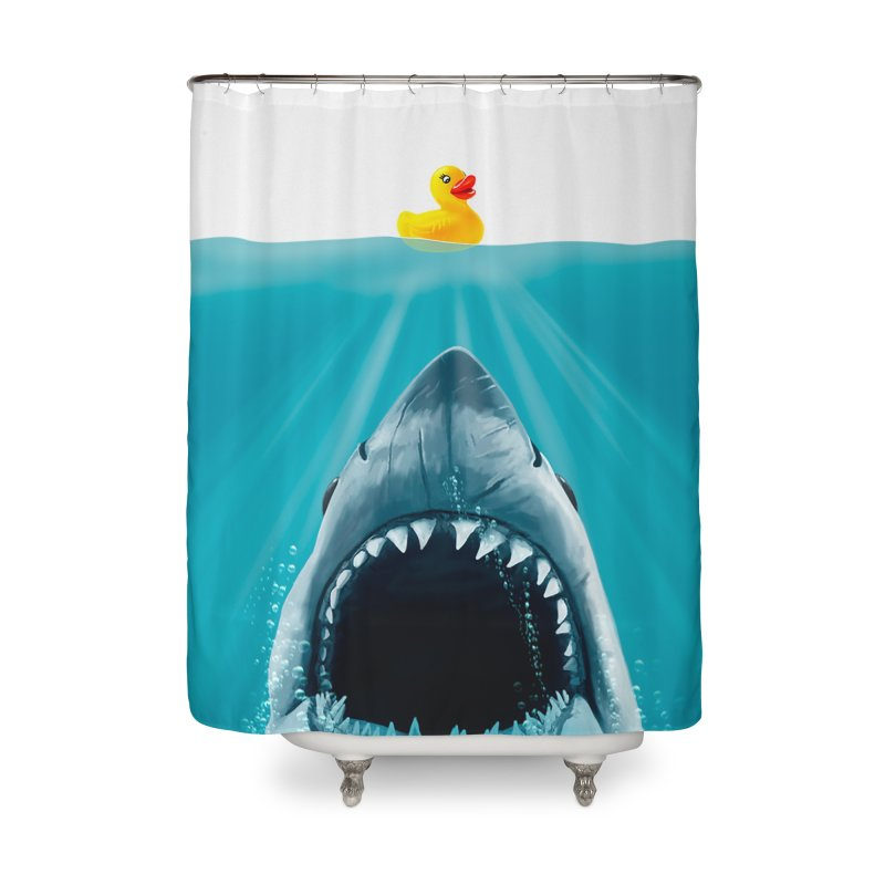 Save Ducky Home Shower Curtain by Threadless Artist Shop