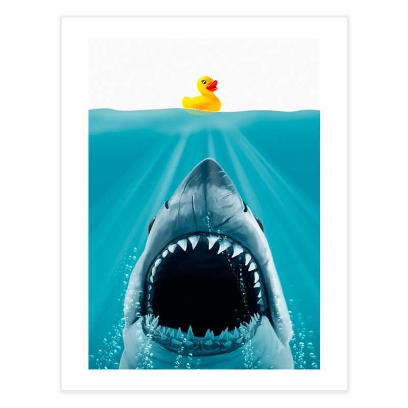 Save Ducky Home Fine Art Print by Threadless Artist Shop