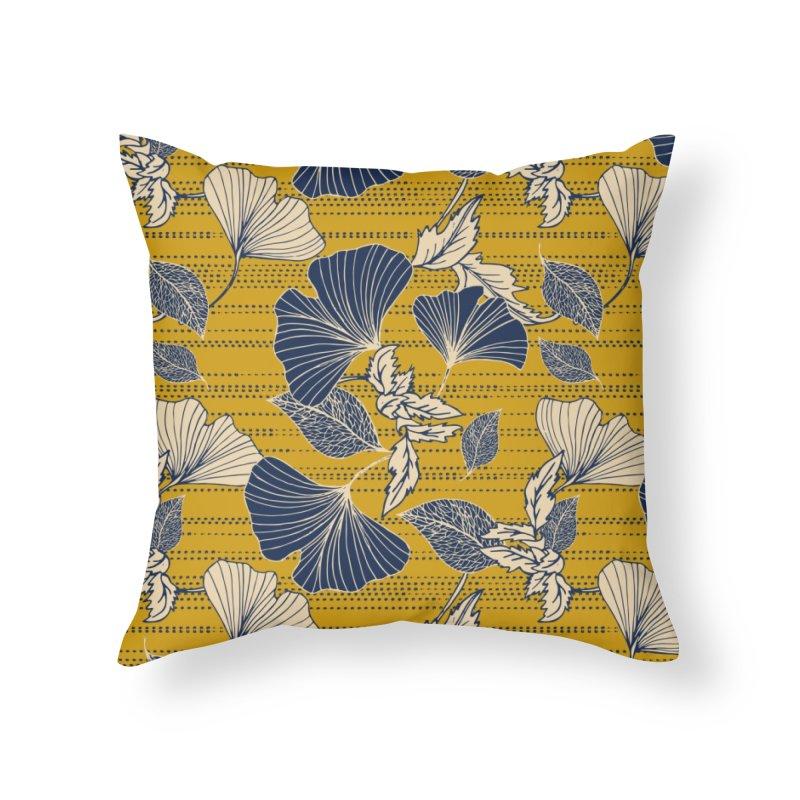 Flowery autumn Home Throw Pillow by Threadless Artist Shop