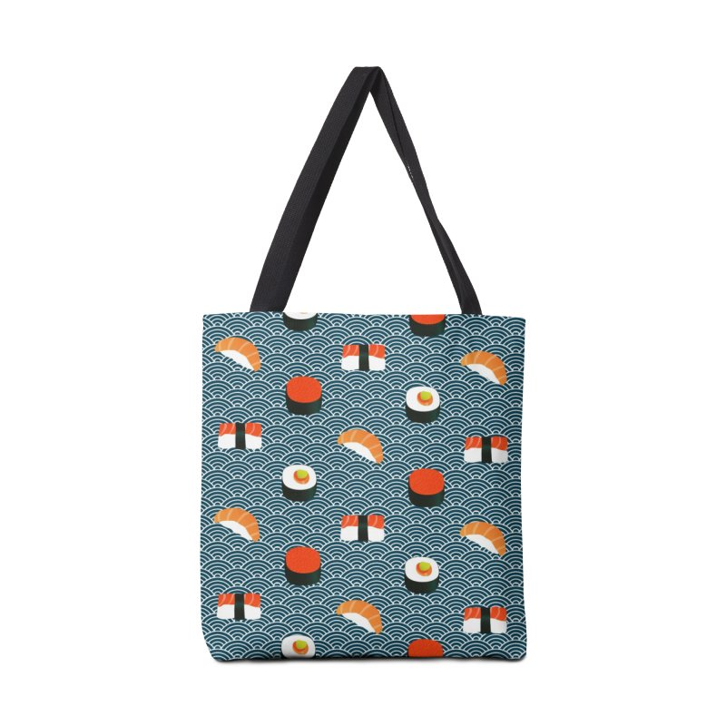 Sushi Pattern Accessories Bag by Threadless Artist Shop