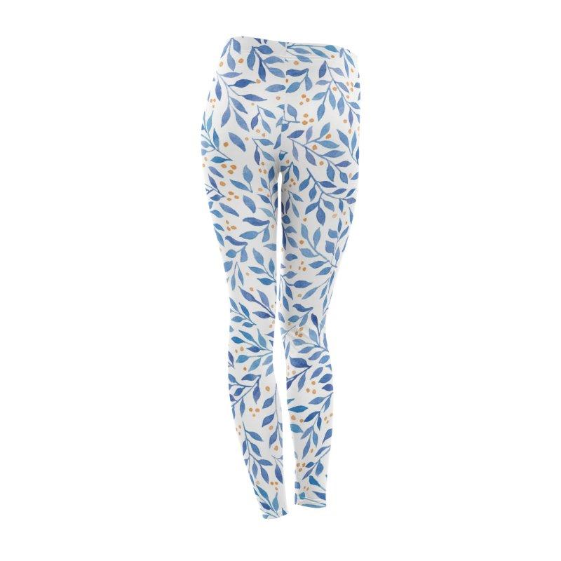 Berry Branches Pattern - Blue Palette Women's Bottoms by Threadless Artist Shop