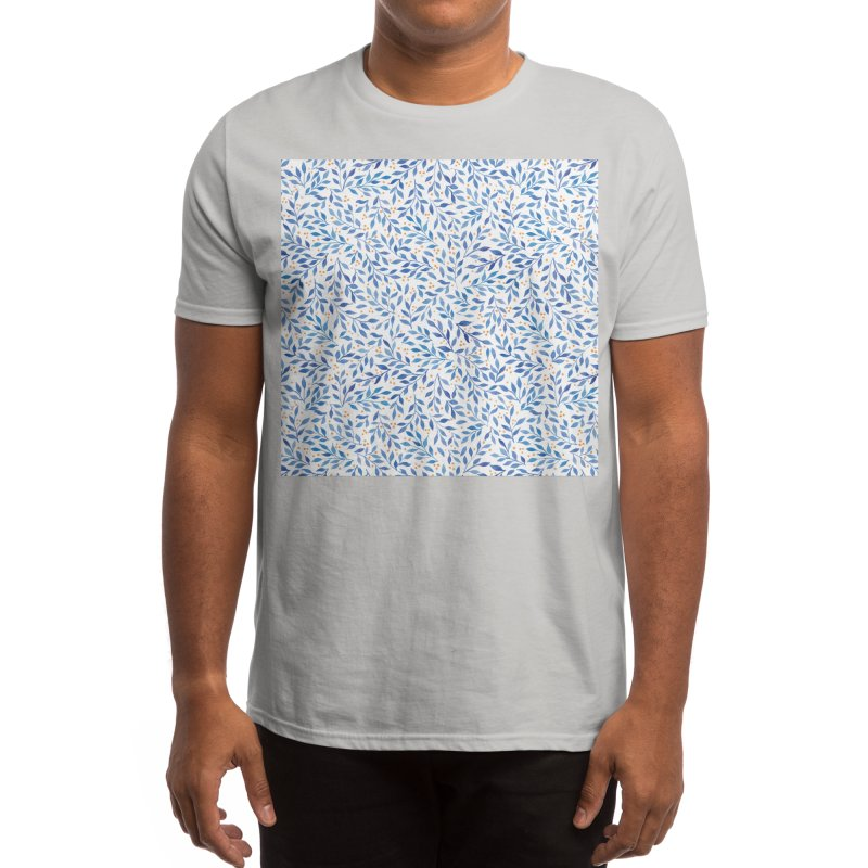 Berry Branches Pattern - Blue Palette Men's T-Shirt by Threadless Artist Shop