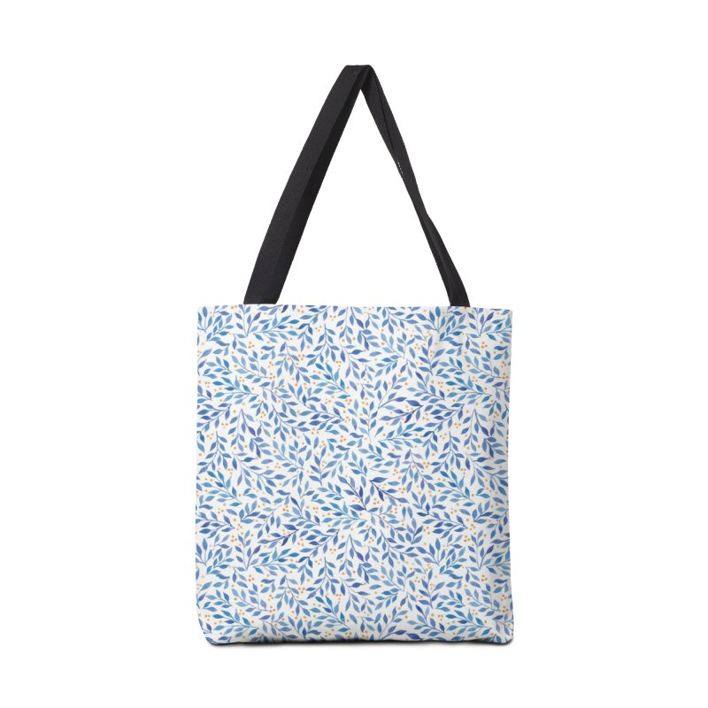 Berry Branches Pattern - Blue Palette Accessories Bag by Threadless Artist Shop