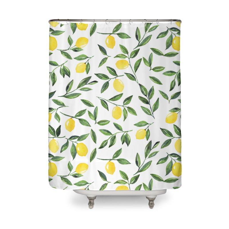 Lemons Pattern Home Shower Curtain by Threadless Artist Shop