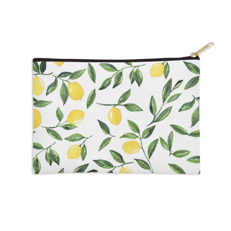 Lemons Pattern Accessories Zip Pouch by Threadless Artist Shop