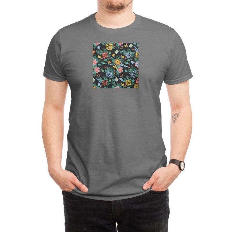 Flower Bucket Men's T-Shirt by Threadless Artist Shop