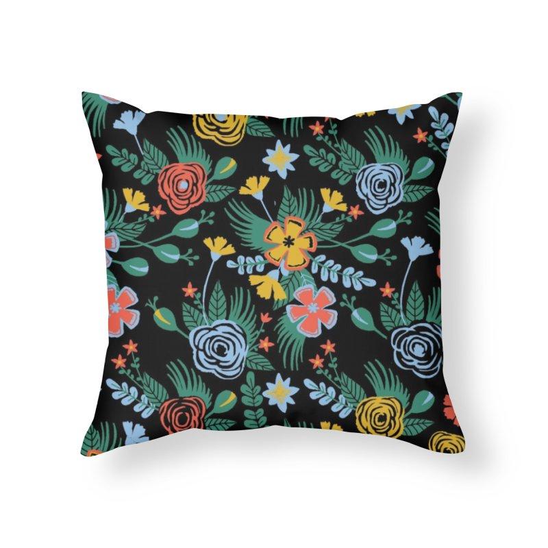 Flower Bucket Home Throw Pillow by Threadless Artist Shop