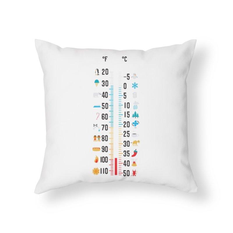 37 Celsius-98.6 Fahrenheit Home Throw Pillow by Threadless Artist Shop