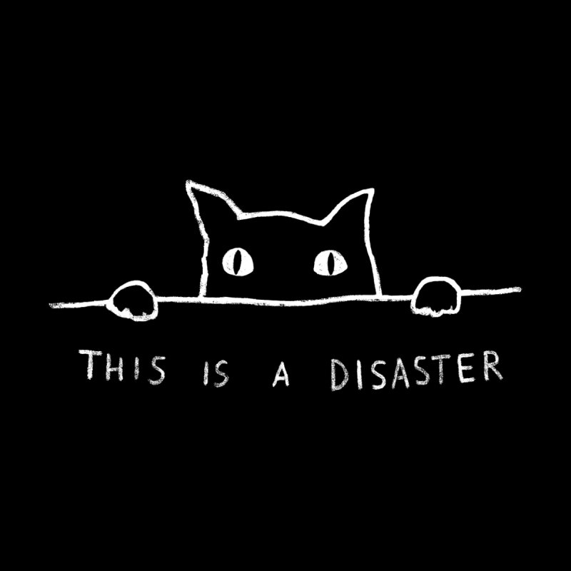 This is A Disaster Men's V-Neck by Threadless Artist Shop