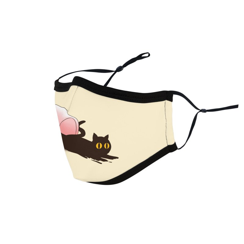Black Catfee Accessories Face Mask by Threadless Artist Shop