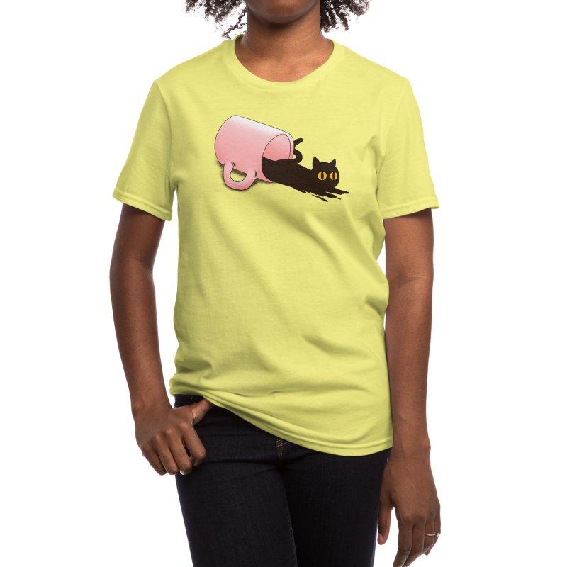Black Catfee Women's T-Shirt by Threadless Artist Shop