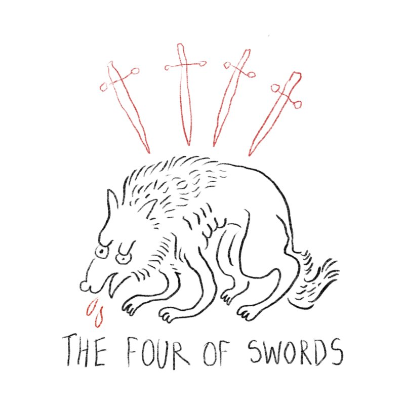 The Four of Swords Men's T-Shirt by Threadless Artist Shop
