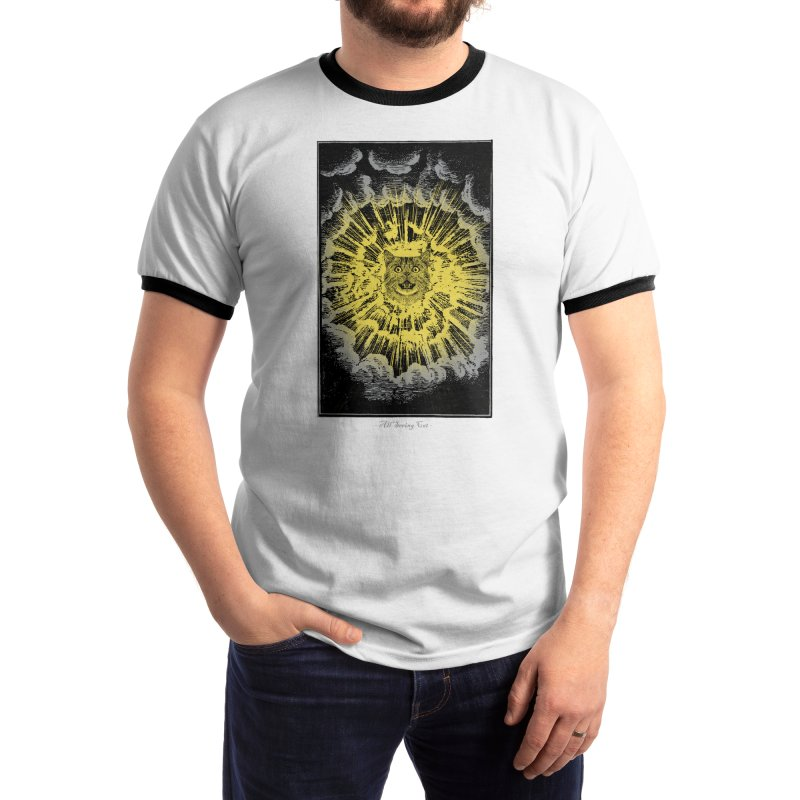 All Seeing Cat Men's T-Shirt by Threadless Artist Shop