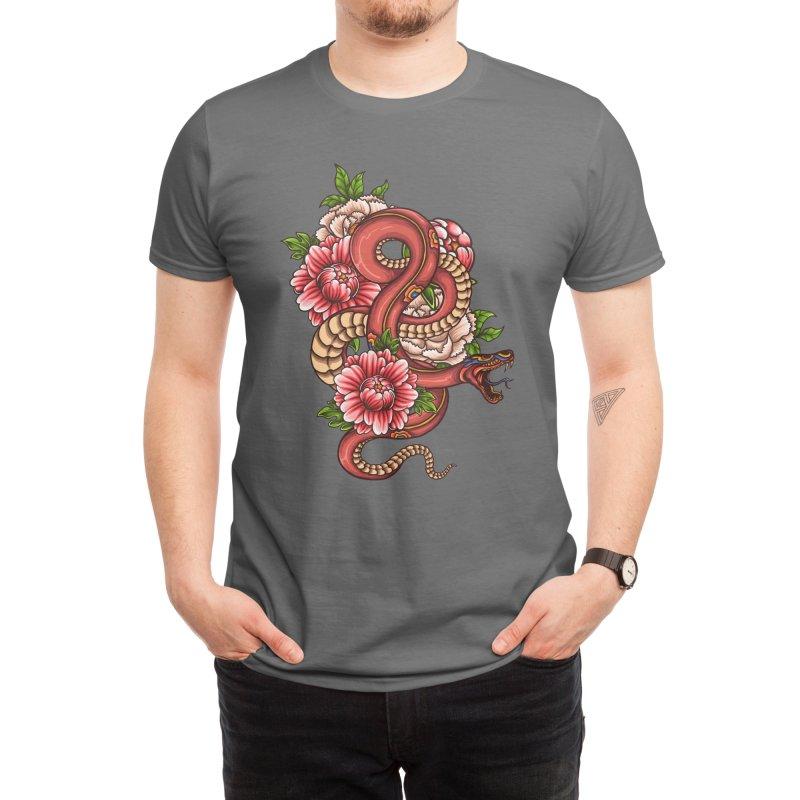 Pink Floral Dragon Men's T-Shirt by Threadless Artist Shop