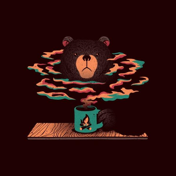 image for Bear Having Coffee I Love Coffee Dark Brown