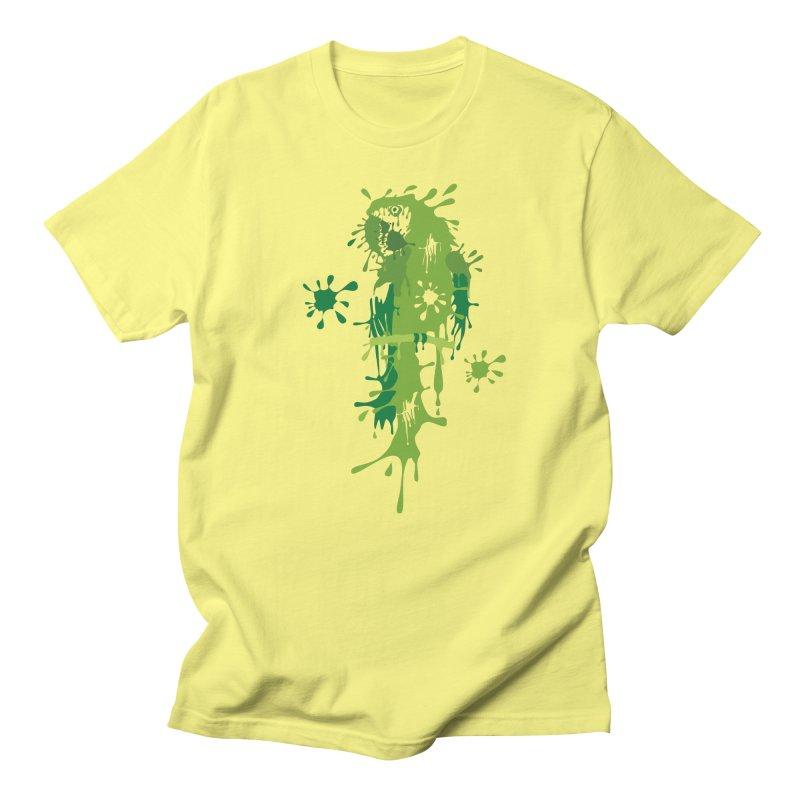 Parrot Splash in Men's Regular T-Shirt Lemon by Threaska