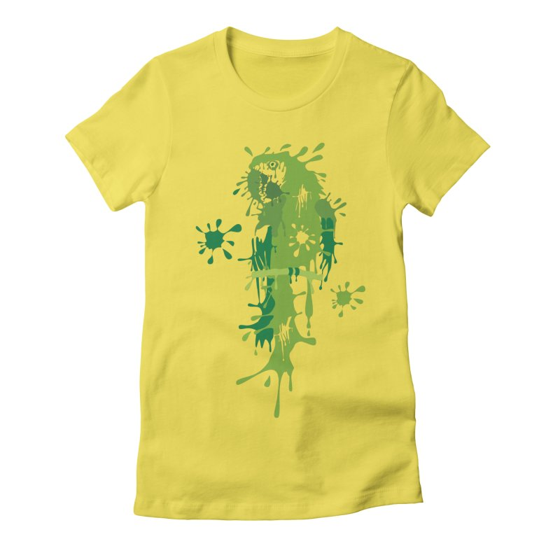 Parrot Splash Women's Fitted T-Shirt by Threaska