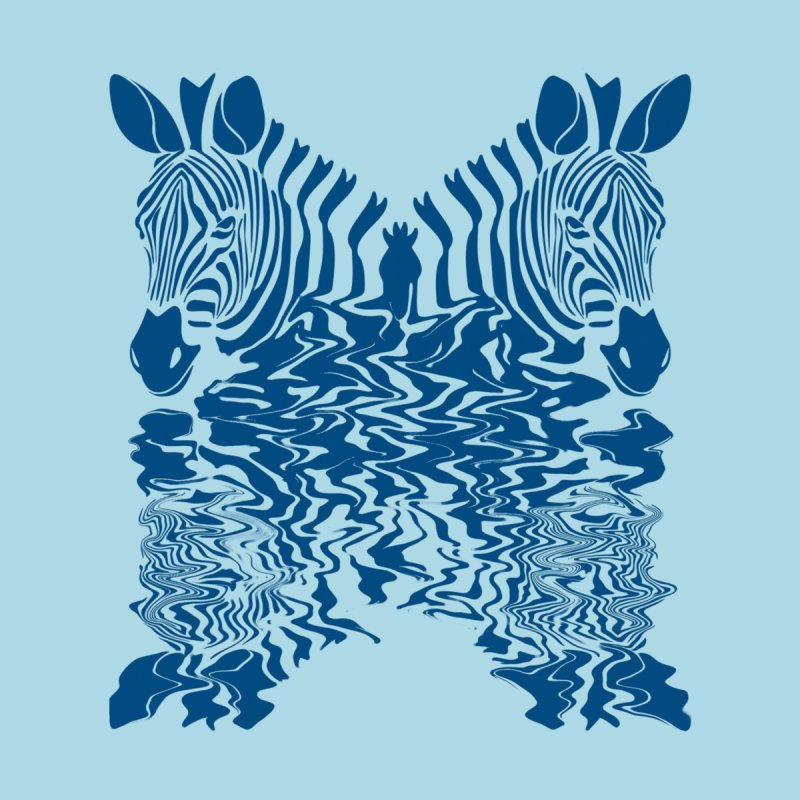Zebras x Rivers Men's T-shirt by Threaska