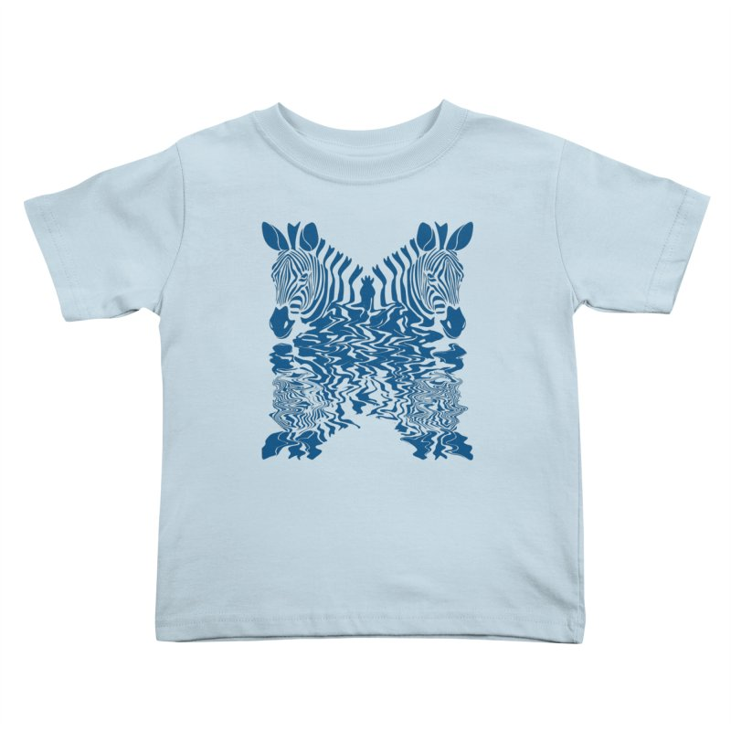 Zebras x Rivers Kids Toddler T-Shirt by Threaska
