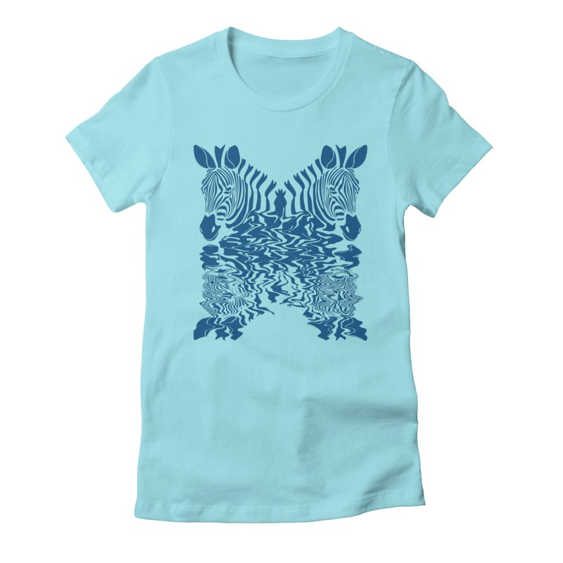 Zebras x Rivers Women's Fitted T-Shirt by Threaska
