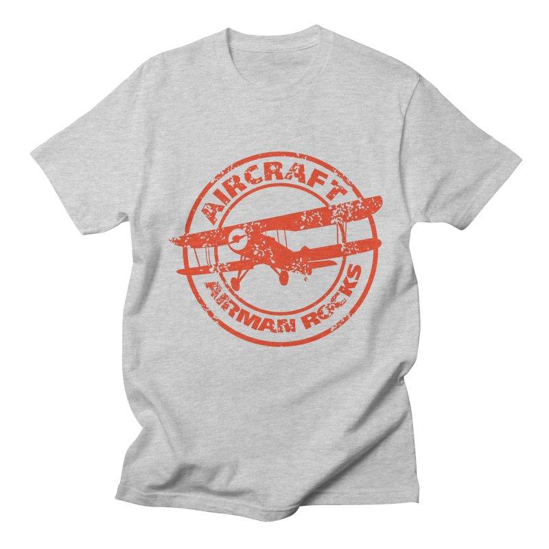 Airman Rocks in Men's Regular T-Shirt Heather Grey by Threaska