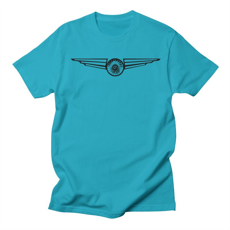 Airworthy in Men's Regular T-Shirt Cyan by Threaska