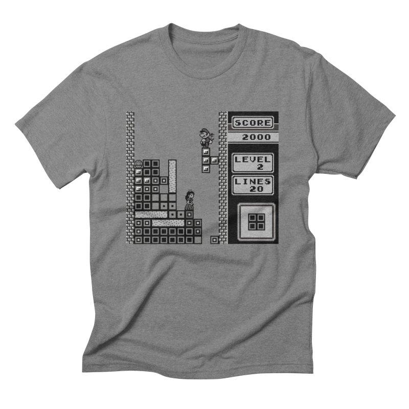 8-Bit Love in Men's Triblend T-Shirt Grey Triblend by Threaska