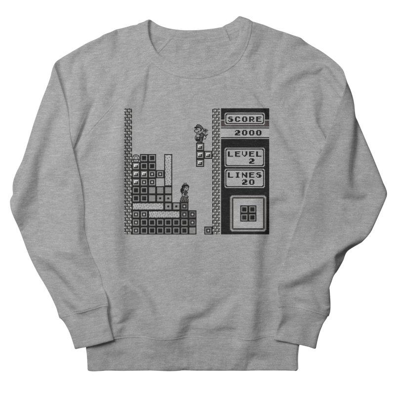 8-Bit Love Men's French Terry Sweatshirt by Threaska