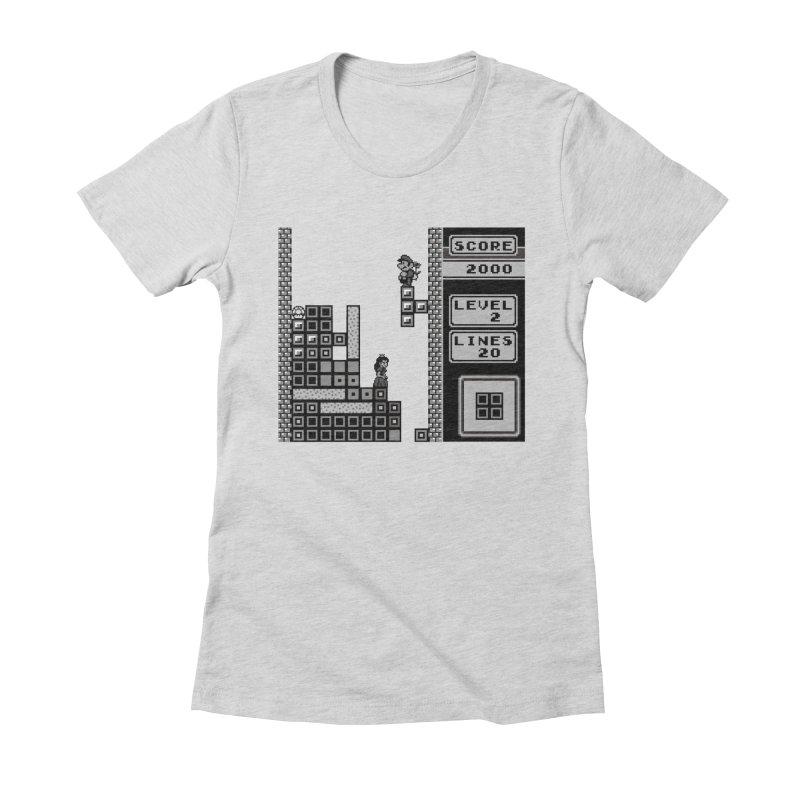 8-Bit Love Women's Fitted T-Shirt by Threaska