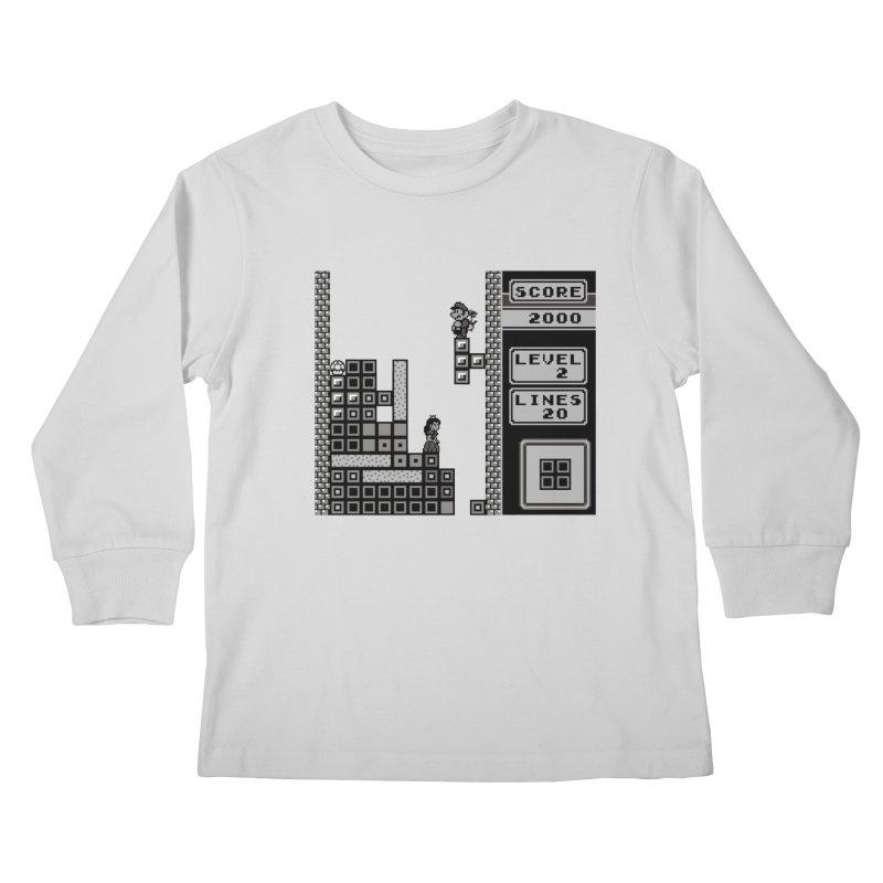8-Bit Love Kids Longsleeve T-Shirt by Threaska