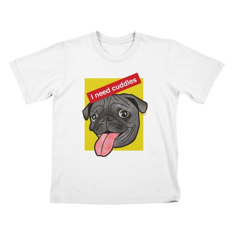Cuddles Kids T-Shirt by Threaska