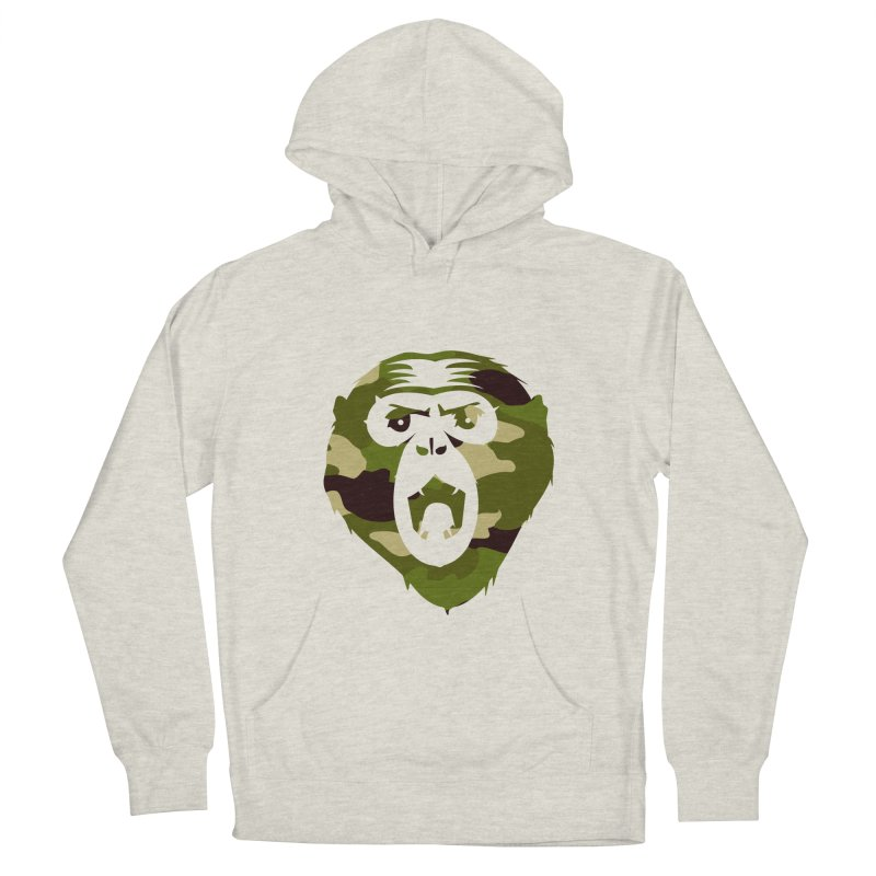 Angry Ape (Camo) Men's Pullover Hoody by Threaska
