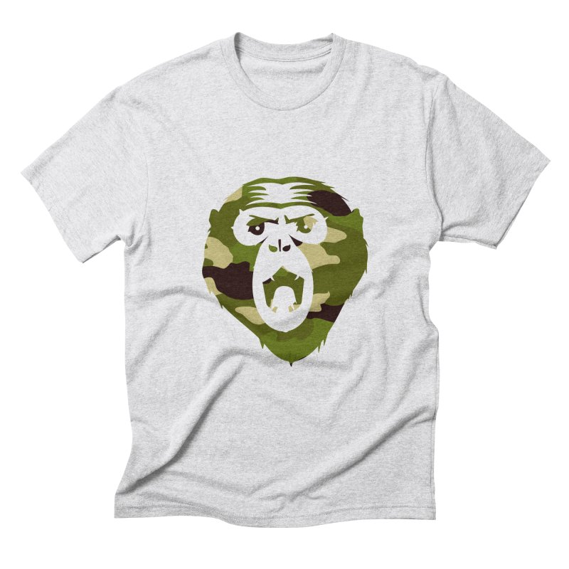 Angry Ape (Camo) Men's Triblend T-shirt by Threaska