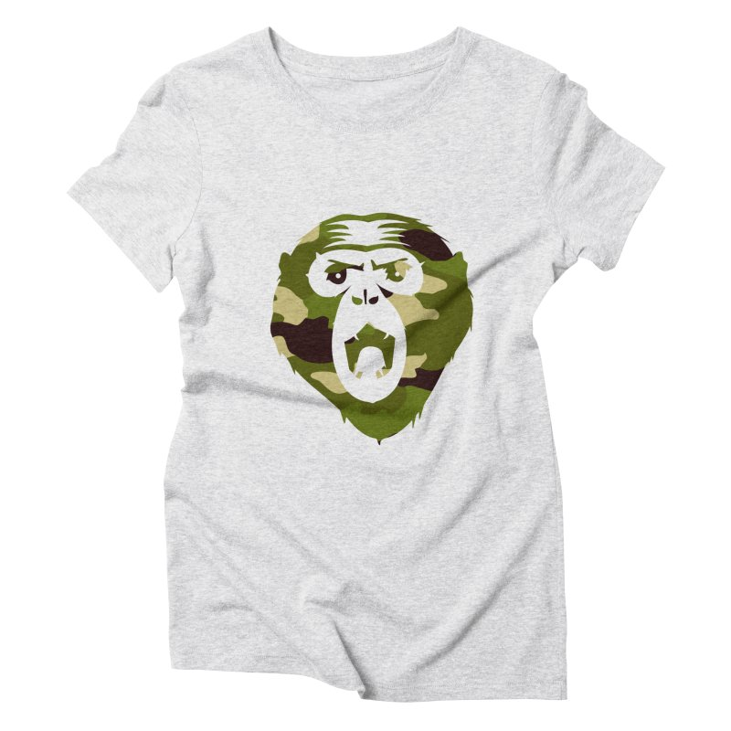 Angry Ape (Camo) Women's Triblend T-Shirt by Threaska