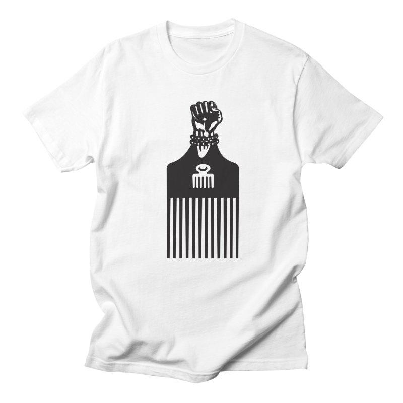 A Man's World in Men's Regular T-Shirt White by Threaska