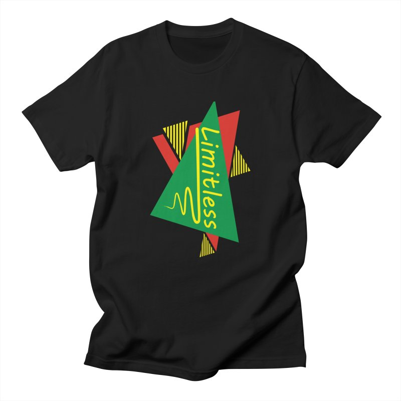 Limitless in Women's Regular Unisex T-Shirt Black by Threaska