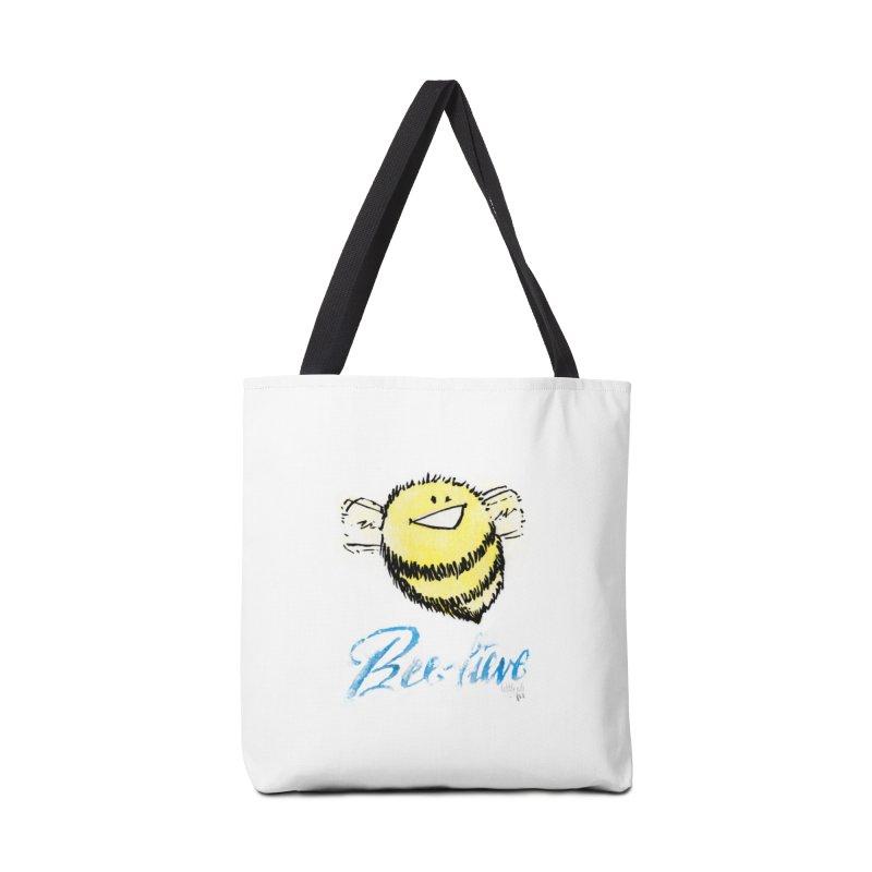 Bee-lieve! Accessories Bag by threespirited's Artist Shop