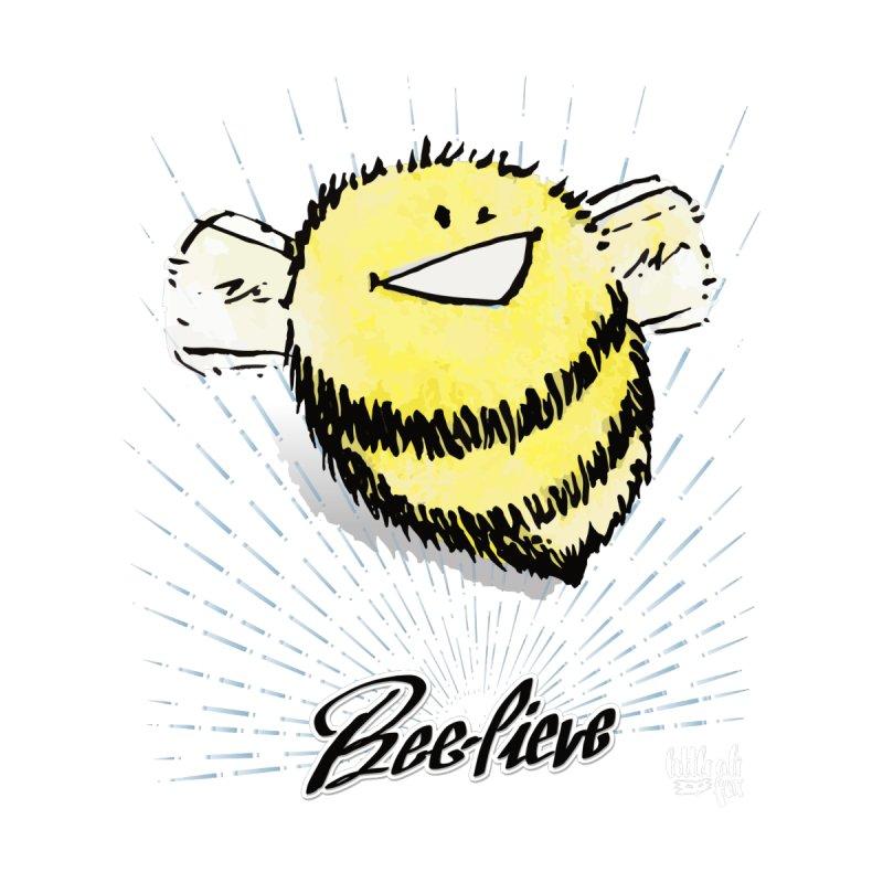 Bee-lieve! Accessories Zip Pouch by threespirited's Artist Shop