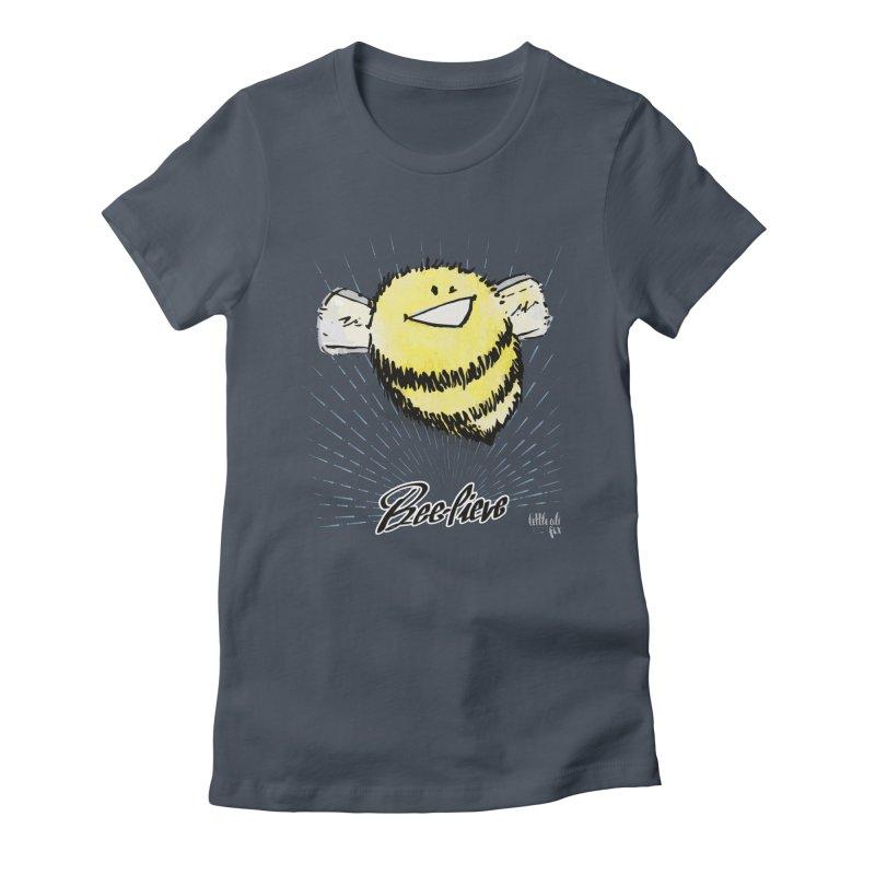 Bee-lieve! Women's T-Shirt by threespirited's Artist Shop
