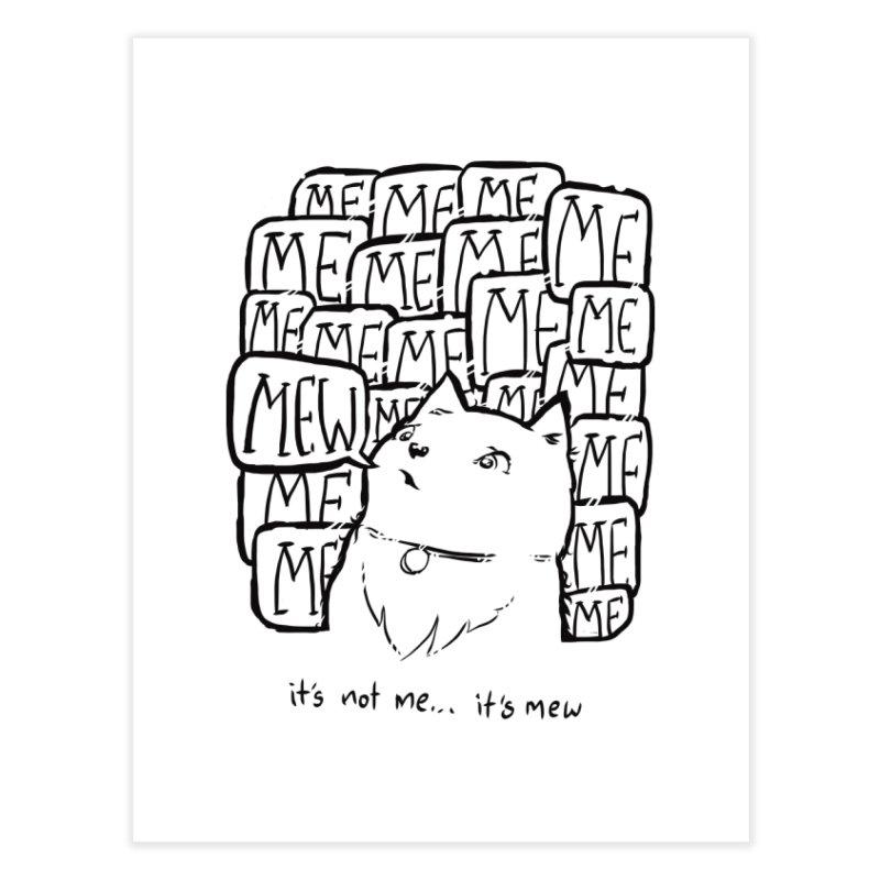 Mew. Home Fine Art Print by threespirited's Artist Shop