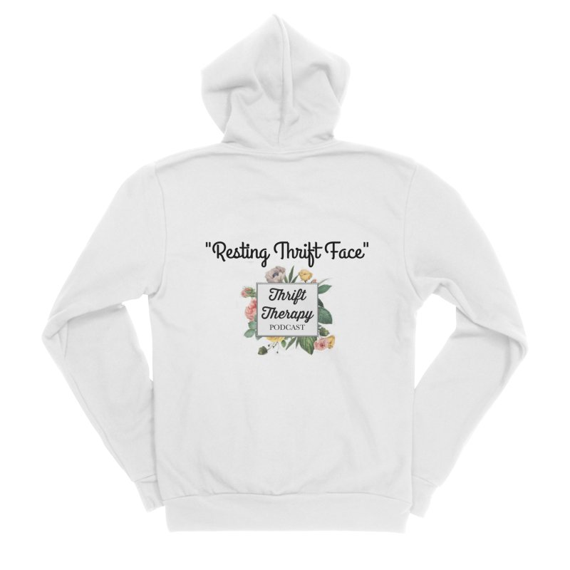 RestingThrift Face Women's Sponge Fleece Zip-Up Hoody by thrifttherapypod's swag