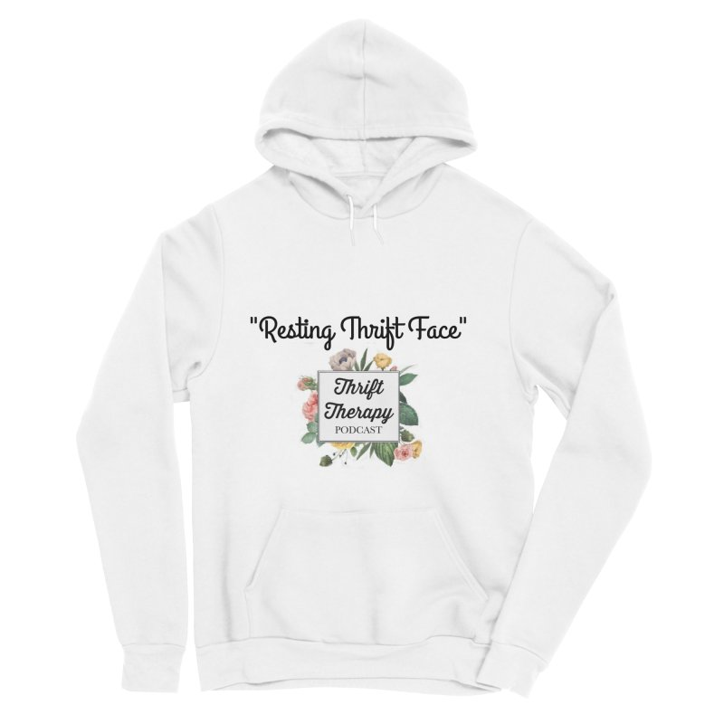 RestingThrift Face Women's Sponge Fleece Pullover Hoody by thrifttherapypod's swag