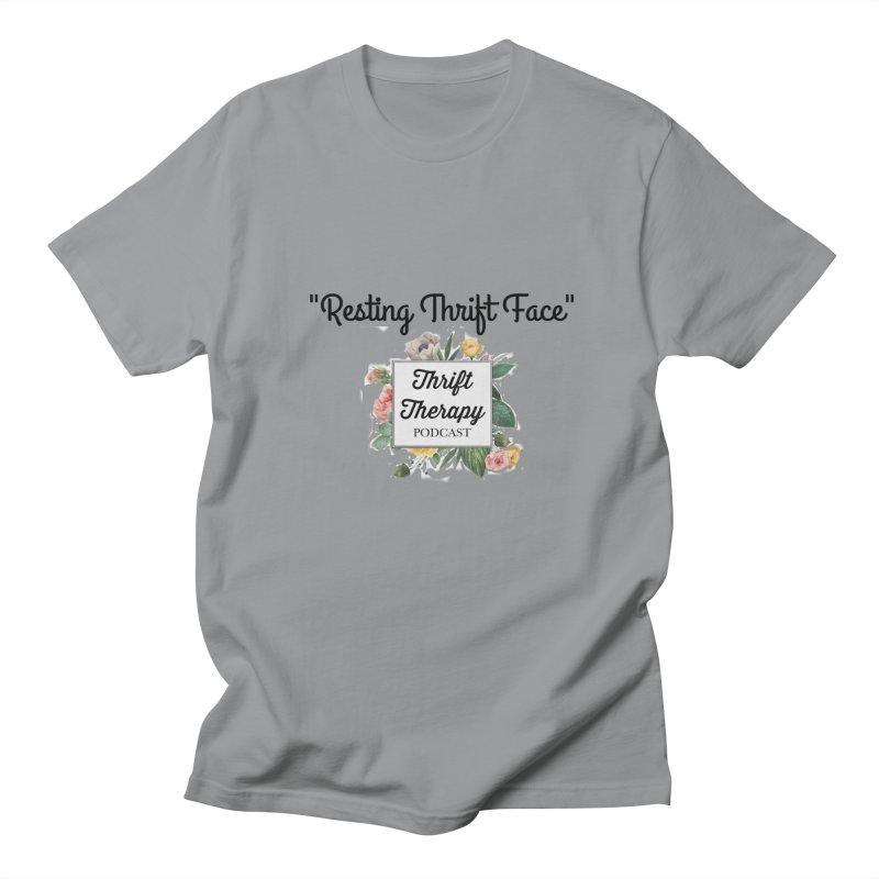 RestingThrift Face Women's Regular Unisex T-Shirt by thrifttherapypod's swag