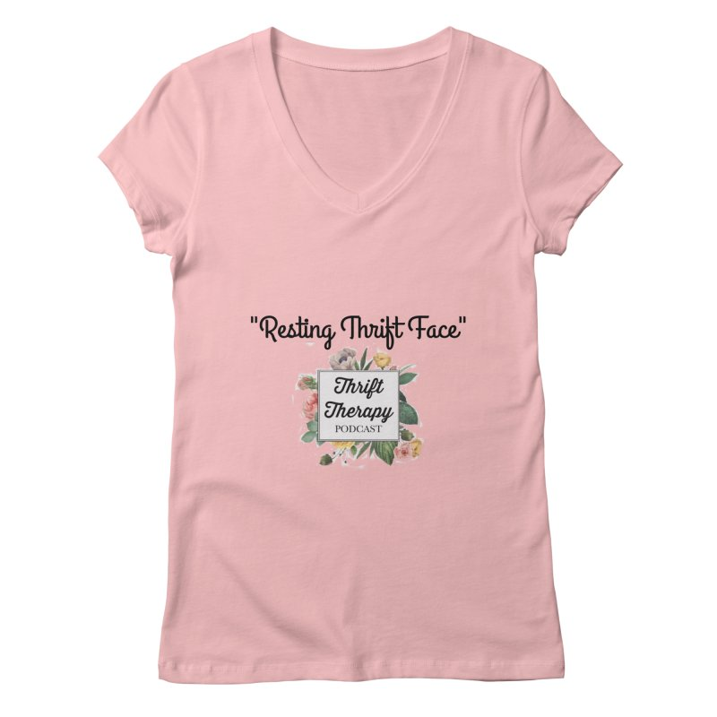 RestingThrift Face Women's Regular V-Neck by thrifttherapypod's swag