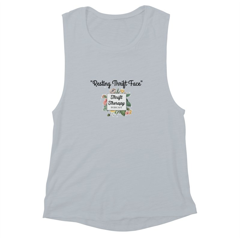 RestingThrift Face Women's Muscle Tank by thrifttherapypod's swag